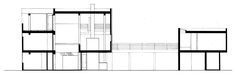 Casa Saltzman,Elevación Norte, R. Meier