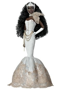 African Steampunk Barbie?! Not sure what look they were going for here....BUT, her name is Charmaine King is one HOT Barbie.