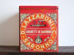 Retro Italian Biscotti Tin by EastonandBelt on Etsy, $40.00