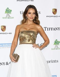 Jessica Alba at the 2014 Baby2Baby Gala Presented By Tiffany & Co. Honoring Kate Hudson. Hair by Giannandrea. Makeup by Monika Blunder for Baszicare. Styled by Emily & Meritt.