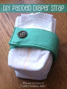 Padded Diaper Strap Tutorial: Perfect baby shower gift!