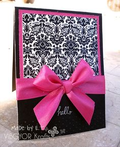 Pink and black card