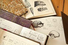 A peek at the sketches & notes in Berlin designer Anne Dobis' Paperblanks books www.paperblanks.com