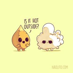 22 Ideas For Funny Love Illustration Kawaii Funny Food Puns, Punny Puns, Cute Puns, Funny Memes, Funny Humour, Food Jokes, Corny Jokes, Hilarious, Food Humor