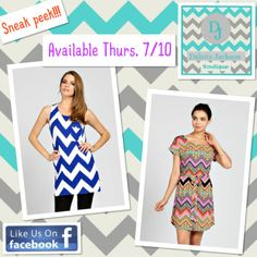 Purchase these items Thurs. 7/10 @ 8 PM EST on the DAKOTA JACKSON BOUTIQUE Facebook pg. LIKE us on Facebook! 40+ items are available right now at 50% off!! www.facebook.com/DakotaJacksonBoutique