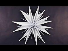 Stern aus Kopierpapier basteln ❁ Deko Ideen mit Flora-Shop - YouTube