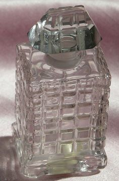 """Baccarat Crystal Perfume Bottle by Caron """"Fete des Roses"""" Commercial from timeinabottle on Ruby Lane"""