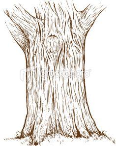 Tree trunk Royalty Free Stock Vector Art Illustration