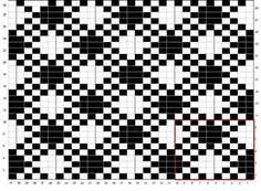 diagonal plaid pattern charted for needlepoint damask book vol. Crochet Blocks, Crochet Chart, Filet Crochet, Crochet Stitches, Tapestry Crochet Patterns, Fair Isle Knitting Patterns, Knitting Charts, Motif Fair Isle, Fair Isle Chart