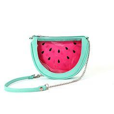 🍉 Mini-Wassermelonen-Tasche zum umhängen 🍉 Preis: 20,99 € inkl. Versand, gefunden auf Amazon Gibt es hier: http://amzn.to/2lB9LIw #fuerKinder #Accessoires #Wassermelone