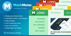 MashMenu wordpress plugin, it is the best responsive plugin with unlimited color schemes recommended for all the e-commerce and magazine sites.