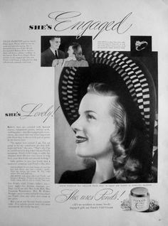 1942 Ponds Cold Cream Vintage Advertisement Bathroom Wall Art Beauty Salon Decor Bedroom Print Original Magazine Print Ad Paper Ephemera by RelicEclectic on Etsy