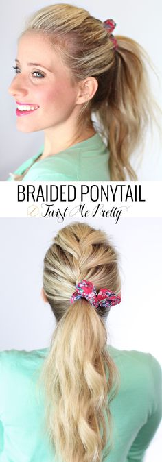 Much cuter than your regular ponytail and only takes a few extra minutes.  I think it's an appropriate style for spring don't you?!  Checkout the tutorial at Twist Me Pretty