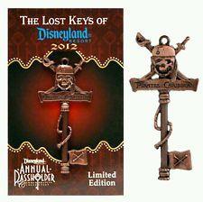 Disney The Lost Keys of Disneyland Resort Pirates of Caribbean Key AP LE Pin
