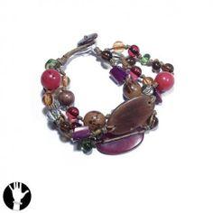 sg paris women bracelet bracelet 3 rows 21cm multicolor wood SG Paris. $7.48