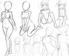 was studying few proportions using 6.5, 5, 4.5 and 2 head chibis. From a pose in posemaniacs.