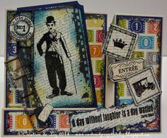 Cartes artisanales et autres projets artistiques de Liz Creations, Baseball Cards, Personalized Items, Day, Art Projects, Masculine Cards, Artist