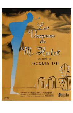 Mr. Hulot's Holiday, French Movie Poster, 1953 Premium Poster