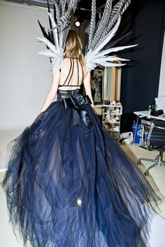 Behati Prinsloo in a Victoria Secret Fashion Show fitting.