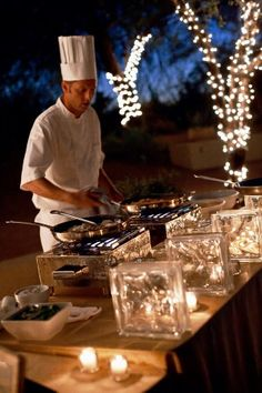 outdoor venue with chefs creations right before your eyes. Phoenix-Desert-Botanical-Garden-Wedding-Keith-Pitts-Photography-4