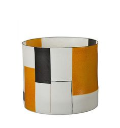 Bodil Manz.  Cylinder no 3 with Orange and Black