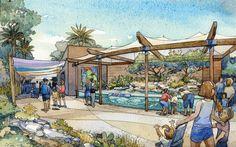 Phoenix Zoo - Entry Oasis - WDM Architects ... #Zoo #Zoological #ZooDesign #ZooArchitecture #Animals #ZooAnimals