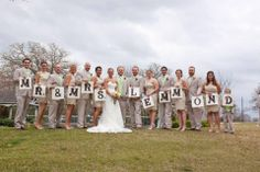 Great idea for after the wedding pic.