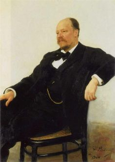 Portrait of the composer Anatoly Konstantinovich Lyadov, 1902  Ilya Repin