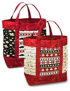 Image result for tote using Northcott's Canadian Sesquicentennial collection