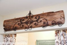 I like this idea instead of the iron on the old wood, to use some of the old barn wood and put William's name on it for the baby room.