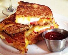 """Stack of Grilled Cheese"" sandwich at 47 Scott, as seen on Esquire magazine's Food For Men blog"