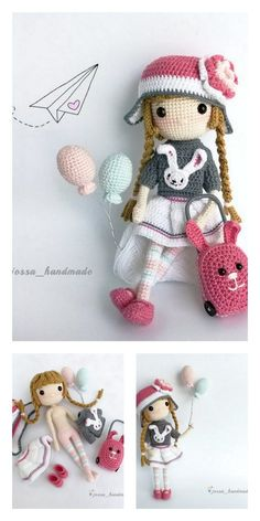 Amigurumi Little Baby Free Pattern – Free Patterns Doll Patterns Free, Crochet Amigurumi Free Patterns, Crochet Doll Pattern, Free Crochet, Knitting Dolls Clothes, Knitted Dolls, Crochet Girls, Crochet For Kids, Crafts For Girls