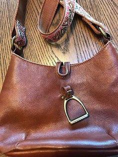 347917fb06d2 Vintage Lauren Ralph Lauren Pebbled Leather Shoulderbag Horse Stirrup  Equestrian. Kristine Smith · Horse Purses