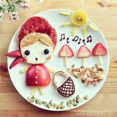 50+ Kids Food Art Lunches - Little Red Riding Hood