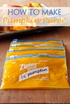 How To Make Pumpkin Puree -- once you learn how to make pumpkin puree, you'll consider ditching the canned stuff for good!