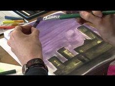 Using Inktense Blocks video- I like to use Intense blocks like watercolor cakes