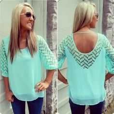 Turquoise Boutique Style Top Brand new without tags! Size large but fits like a medium. The color is not as bright as the first photo because of the filter on it. Made in china. Tops Blouses