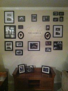 Black & White photo wall