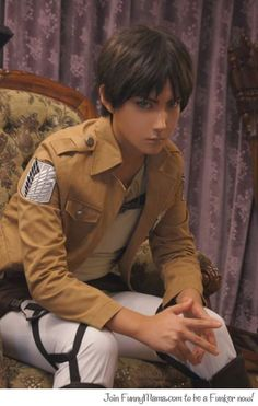 Eren Yeager-Attack on Titan OH.MY.GOD. He looks so... Real and unreal at the same time !It's awesome *-*