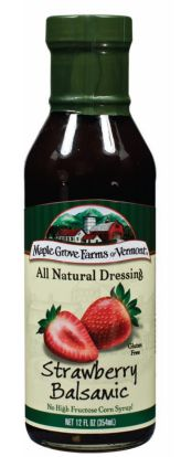 Maple Grove Farms Strawberry Balsamic Dressing -- perfect with spinach, feta, and strawberries!