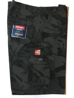WRANGLER Camo Cargo Shorts 44 Loose Fit Tech Pocket Camouflage NEW  | eBay