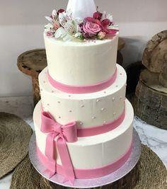 tarta buttercream perlitas y flores