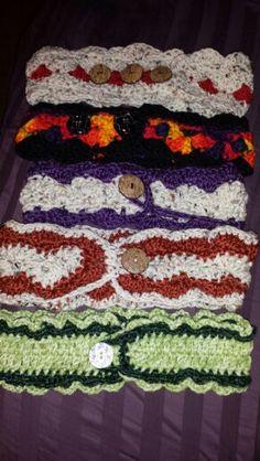 Headbands I crochet. No 2 alike