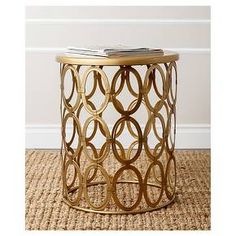 Vista End Table Gold