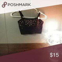 Rinestone crop Squares and dots PINK Victoria's Secret Intimates & Sleepwear Bras
