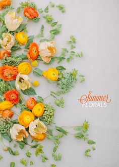 Gorgeous summer florals | by Janie Medley via Ruffled