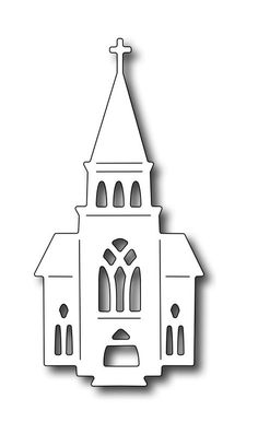 Frantic Stamper Precision Die - Village Church-The dies in our Village collection are designed to work together to form scenes for cards or scrapboo Holiday Crafts, Christmas Crafts, Christmas Ornaments, Christmas Christmas, 3d Templates, Wood Crafts, Paper Crafts, House Template, Christmas Stencils