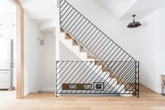Résidentie Interior Stairs railing Wood White Steel Composition