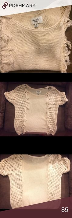 American Eagle knit top Cream AE Knit Top M American Eagle Outfitters Tops