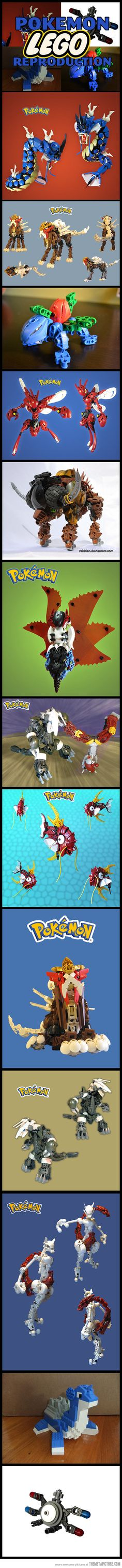 Cool Pokemon Lego reconstructions… @Jacqui Eames you and Joey should make these